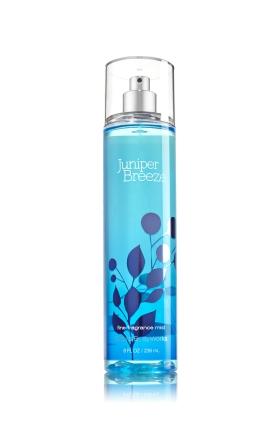 **พร้อมส่ง**Bath & Body Works Juniper Breeze Fine Fragrance Mist 236 ml. สเปร์ยน้ำหอมที่ให้กลิ่นติดกายตลอดวัน จากกลิ่นดั่งเดิมรุ่นคลาสสิคที่ได้รับความนิยม กลิ่นไม้สนหอมสดชื่นกระปรี้กระเปร่าเหมือนบรรยากาศยามเช้าค่ะ ,