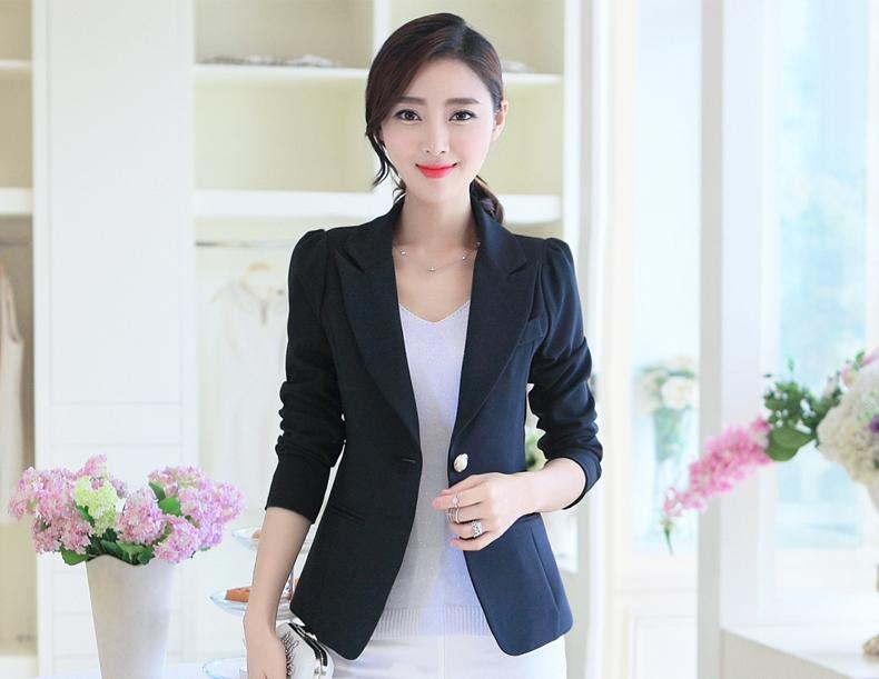 เสื้อสูททำงานสีดำ แขนยาว รหัสสินค้า 10-WT011-ดำ