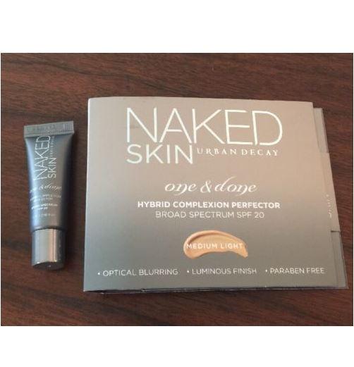 **พร้อมส่ง**Urban Decay Naked Skin One & Done Hybrid Complexion Perfector SPF 20 ขนาดทดลอง 5ml. สี Medium Light ครีมรองพื้นที่รวมคุณประโยชน์ของทรีตเม้นต์บำรุงและปกป้องผิว ช่วยอำพรางจุดบกพร่องและปรับสีผิวให้สม่ำเสมอในทันที เพื่อผิวที่สวยสมบูรณ์แบบ สูตรผ ,