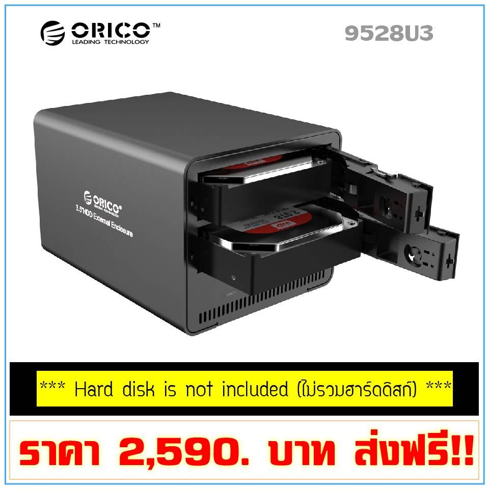 ORICO 9528U3 2 Bay USB 3.0 Enclosure 3.5 inch HDD SATA [BLACK]