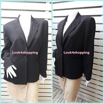 เสื้อสูท มือสอง นำเข้า สีดำ KASPER อก 42 นิ้ว