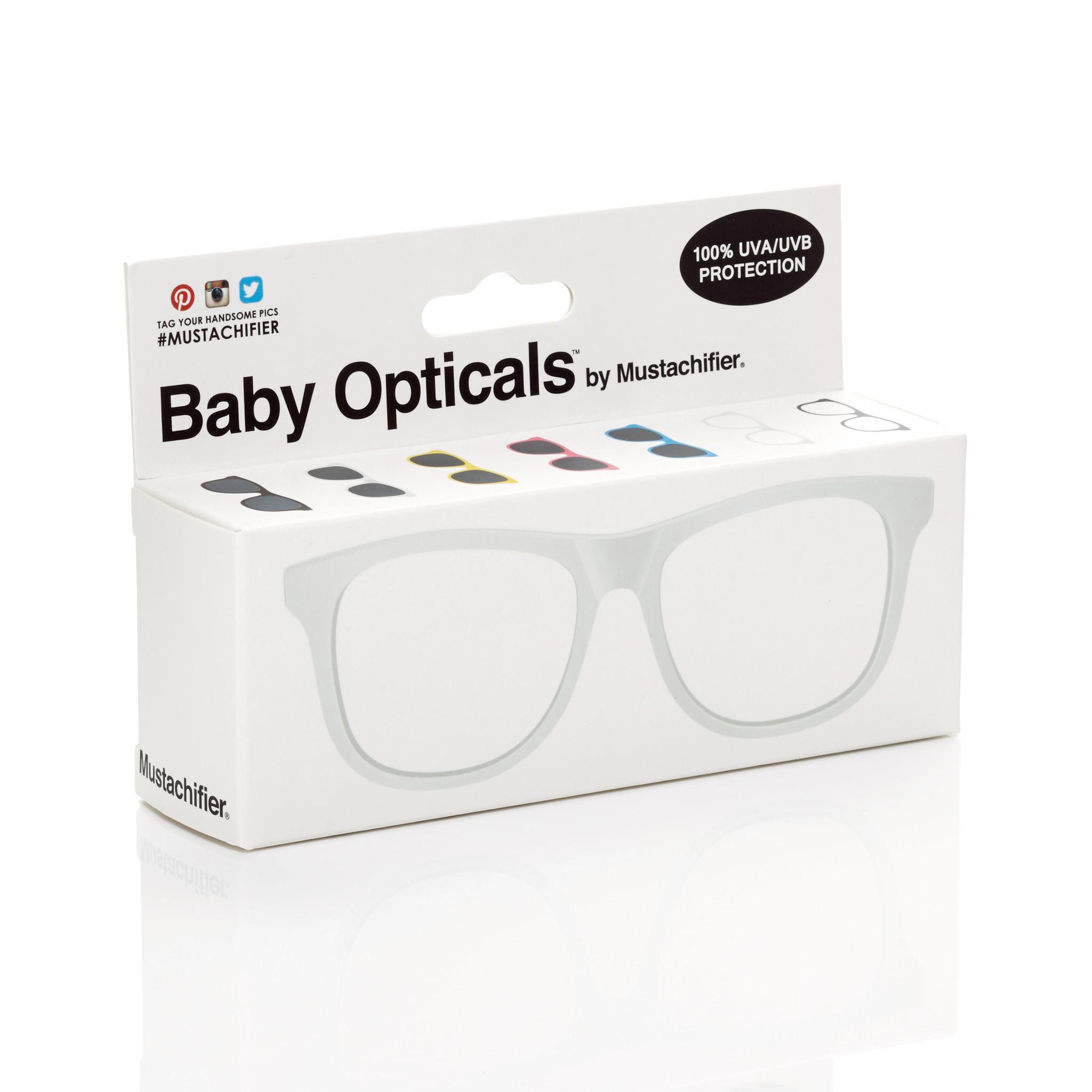 Mustachifier White UV Glasses Age 0-2 แว่นเนิร์ดเด็กสีขาว