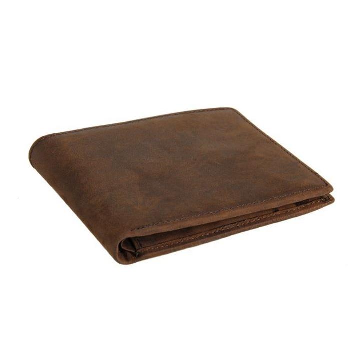 GT-8047 กระเป๋าสตางค์ผู้ชาย ใบสั้น หนังนูบัค