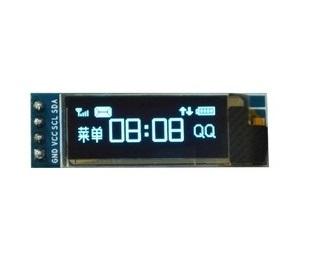 """จอแสดงผล OLED 128x32 แบบ I2C ขนาด 0.91"""" สีน้ำเงิน"""