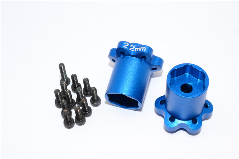 ALUMINIUM 2.2 WHEEL HUB ADAPTERS (22MM THICKNESS) - YT022C