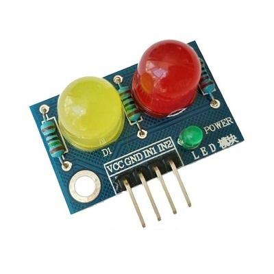LED Module ไฟแสดงสถานะ 2 ดวง 10mm สีแดง สีเหลือง