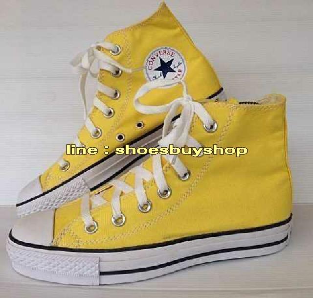 รองเท้า converse หุ้มข้อสีเหลือง