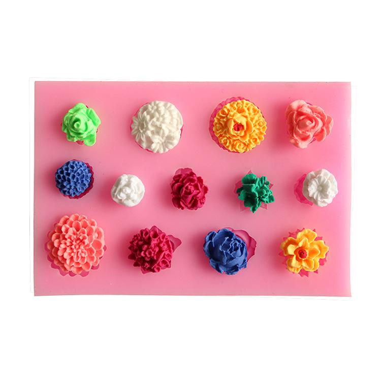 พิมพ์ซิลิโคน พิมพ์ฟองดอง ดอกไม้จิ๋ว