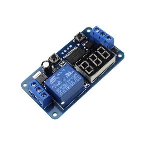 Digital Delay Timer 0-999 Seconds 12V Relay Switch Control Module โมดูลหน่วงเวลาปิด