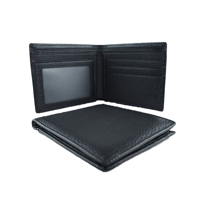 GT-8020 กระเป๋าสตางค์ผู้ชาย ใบสั้น สีดำ