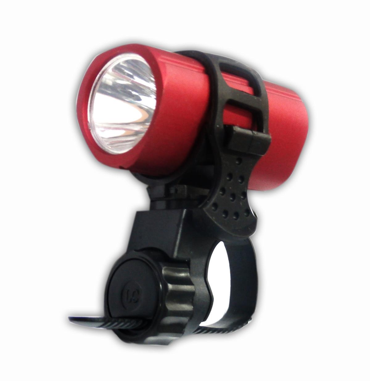 ชุดไฟหน้า Super Bright LED พร้อมขารัดไฟซิลิโคน (แดง)