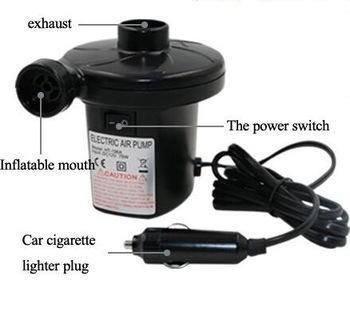 เครื่องสูบลม ที่สูบลม ไฟฟ้า 3 หัว สำหรับ รถยนต์ - สีดำ