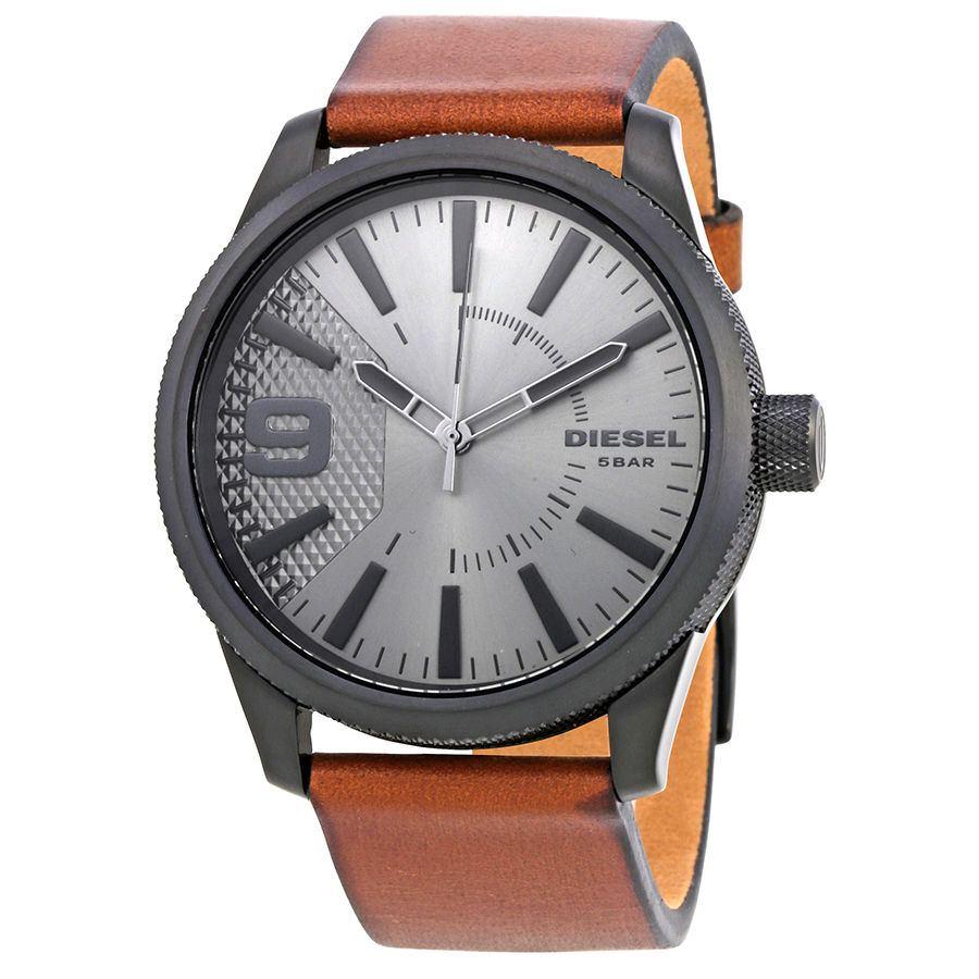 นาฬิกาผู้ชาย Diesel รุ่น DZ1764, Rasp Grey Dial Brown Leather Men's Watch