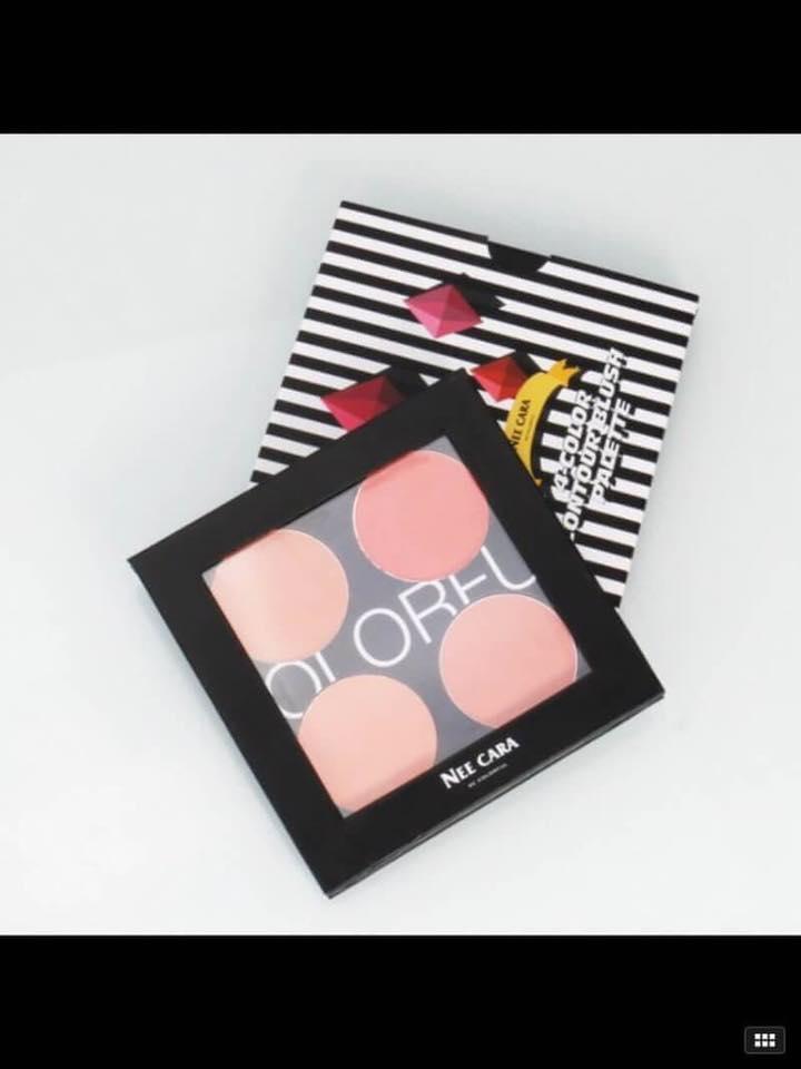 Nee cara 4 contour blush palette ราคา 150฿ #เครื่องสำอางราคาถูก #เครื่องสำอางแบรนด์เนม #ขายส่ง #beautyact #ขายส่งราคาถูก #เครื่องสำอาง #เครื่องสำอางค์ #contour #blush #คอนทรัว #neecara