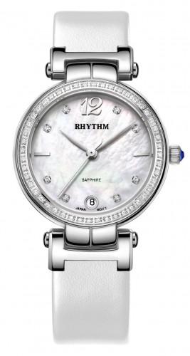 นาฬิกาผู้หญิง Rhythm รุ่น L1504L01, Diamond Sapphire Leather L1504L 01, L1504L-01