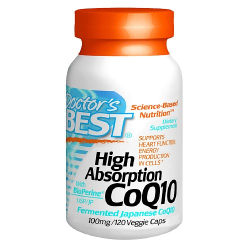 Doctor's Best High Absorption CoQ10, 100 mg, Veggie Caps 120 ea