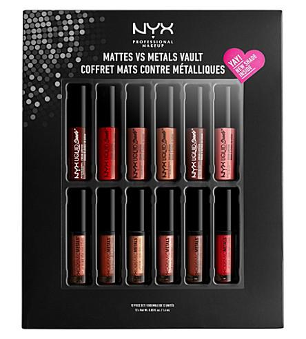 Matte midvault01 เซ็ตมินิลิปสติกเนื้อแมทและลิปกลอส Lip Makeup Nyx Vault Professional ที่ได้รับความนิยมสูงสุด Vs Metals