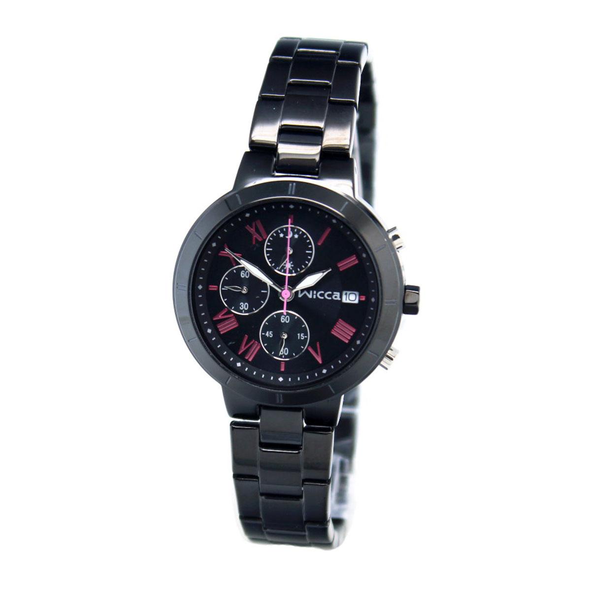 นาฬิกาผู้หญิง Citizen รุ่น BM2-241-51, Casual Chrono Analog Black Watch