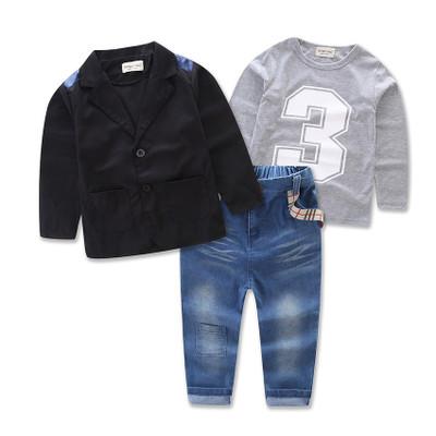 ID424-เสื้อ+กางเกง+เสื้อตัวนอก 6 ชุด /แพค ไซส์ 2-7T