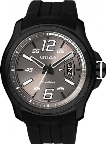 นาฬิกาข้อมือผู้ชาย Citizen Eco-Drive รุ่น AW1354-07H, My First 3.0 Black IP 100m Sports