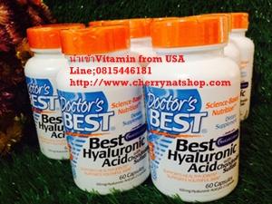 วิตามินชะลอความร่วงโรยของผิว ริ้วรอยแลดูลดเลือนDoctor's Best Hyaluronic Acid With Chondroitin Sulfate 100 mg 60 Capsules (made with Biocell Collagen)