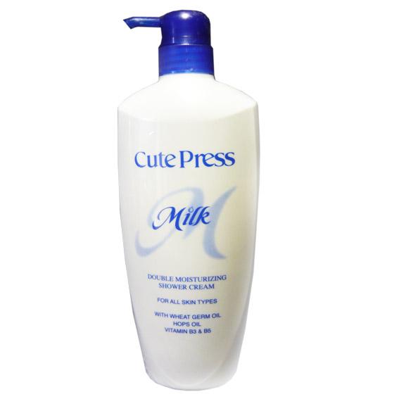 คิวเพรส มิลค์ ดับเบิ้ล มอยส์เจอร์ไรซิ่ง ชาวเวอร์ ครีม Cute Press Double Moisturizing Shower Cream
