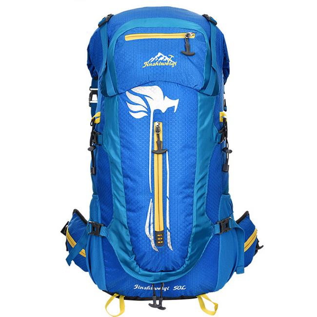 DF07 กระเป๋าเดินทาง สีน้ำเงิน ขนาด 50 ลิตร (เสริมโครง)