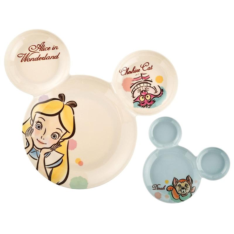 ชุดจานรับประทานอาหารสุดน่ารัก Disney Mealtime Magic - Hi! 2 Piece Icon Plate Set (Alice in Wonderland)