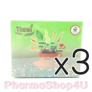 (ซื้อ3 ราคาพิเศษ) กาแฟสมุนไพร เทวี คอฟฟี่1 (Thewi Coffee1) 15กรัม 10 ซอง กาแฟสำเร็จ 7in1 บำรุงสุขภาพร่างกายให้สดชืน แข็งแรง บำรุงหัวใจ ขยายหลอดเลือด