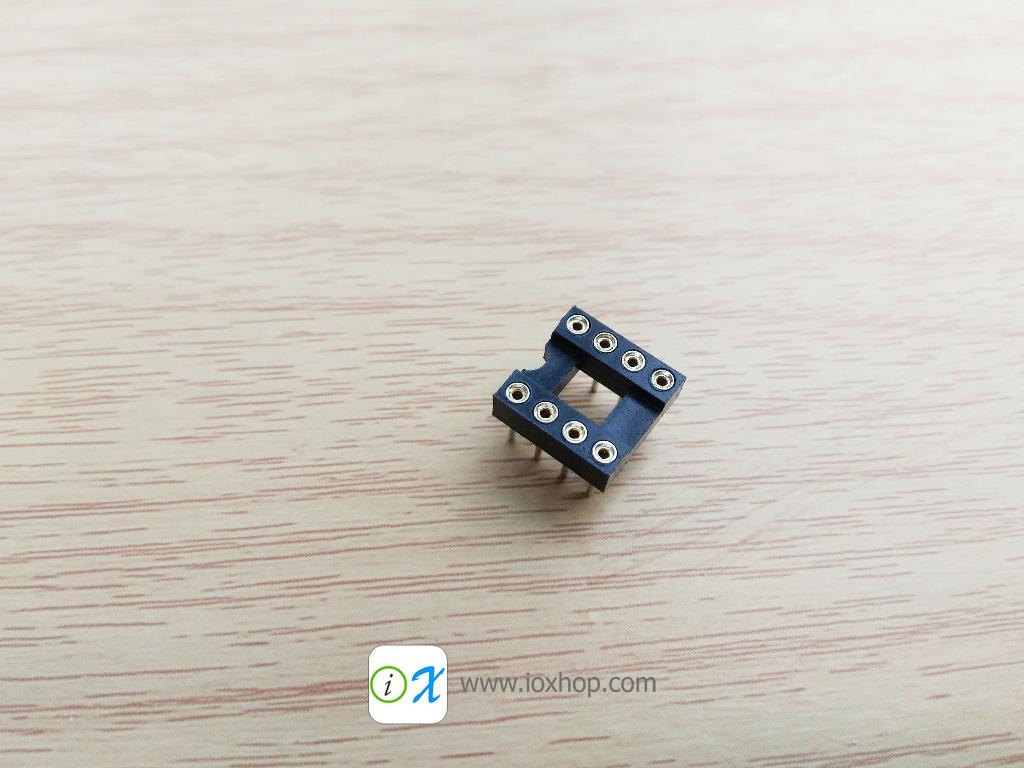 ซ็อกเก็ตไอซี 8 ขา แบบขากลม DIP8 DIP-8 Round IC Socket