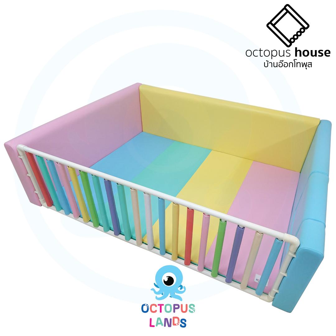คอกกั้นเด็ก Octopus House เซ็ท Pastel One