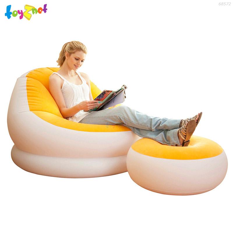 Intex เก้าอี้เป่าลมคาเฟ่เชสย์ สีส้ม รุ่น 68572OR