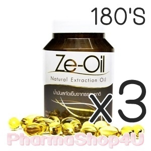(ซื้อ3 ราคาพิเศษ) Ze-Oil 180เม็ด ซีออยล์ น้ำมันสกัดเย็น 4ชนิด น้ำมันมะพร้าว น้ำมันกระเทียม น้ำมันรำข้าว น้ำมันงา ขี้ม้อน ดูแลทุกระบบภายในร่างกาย