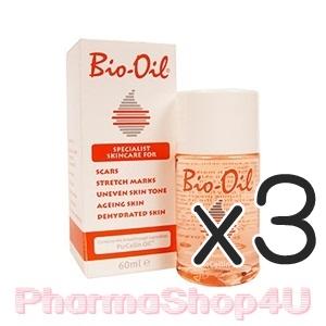 (ซื้อ3 ราคาพิเศษ) Bio Oil 60mL ไบโอออยล์ ช่วยรักษาแผลเป็น ผิวแตกลาย สีผิวไม่สม่ำเสมอ ผิวเสื่อมสภาพ ผิวขาดความชุ่มชื้น