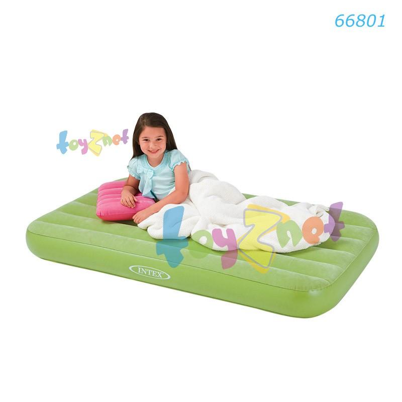 Intex ที่นอนเป่าลม โคซี่แอนด์ฟัน 88x157x18 ซม. สีเขียว รุ่น 66801GR