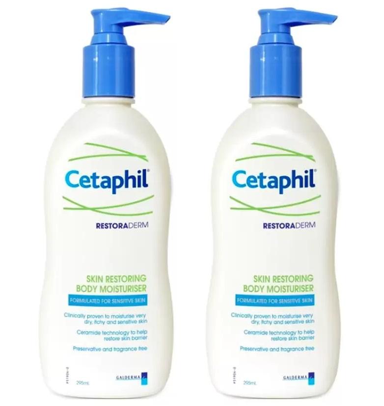 Cetaphil restoraderm body moisture 295ml 2 ขวด สำเนา