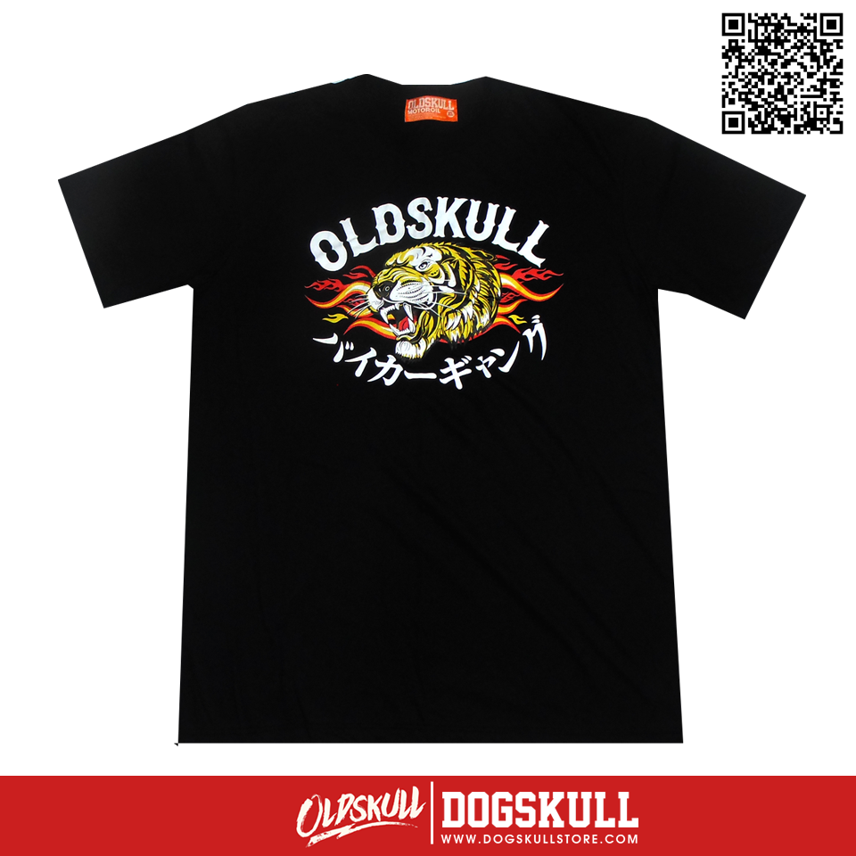 เสื้อยืด OLDSKULL : ULTIMATE TIGER FIRE | Black | XL