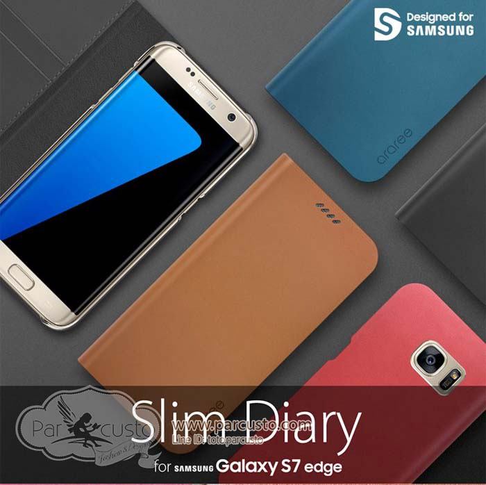 เคส Samsung Galaxy S7 Edge [Slim Diary] จาก Araree [Pre-order]