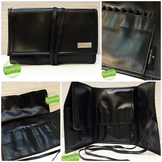 ILLAMASQUA Professional Brush Case กระเป๋าหนังสีดำ สำหรับใส่แปรงแต่งหน้า แบบมืออาชีพ หนังนุ่มอย่างดี สวยสุดๆ ของแท้ 100% *พร้อมส่ง*