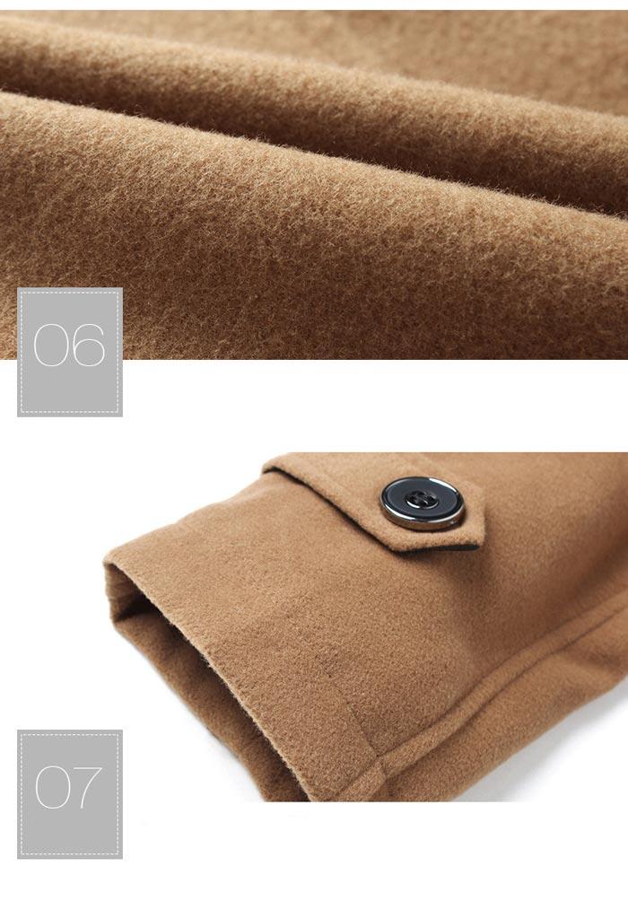 เสื้อกันหนาวผู้ชาย เสื้อแจ็คเก็ตผู้ชายมีฮู้ด ถอดได้ สีกรมท่า มาพร้อมเข็มขัด