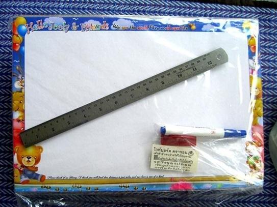 ไวท์บอร์ดกระดาษแข็ง 180บาทต่อโหล