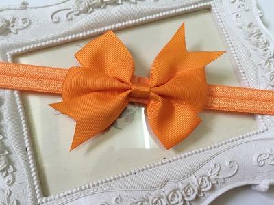 ผ้าคาดผมโบว์เล็ก- ส้ม