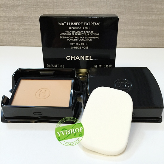 Chanel Perfection Lumiere Extreme Long-Wear And Pore Minimizing Powder Foundation SPF25 PA+++ 12 g # 20 ผิวขาวกลางๆ (Refill ขนาดปกติ Inbox)