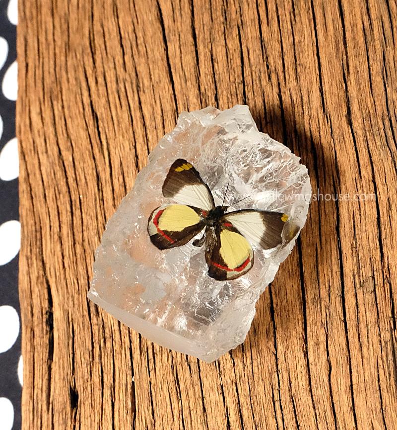 ++ ที่ทับกระดาษ ผีเสื้อ ทรงเลียนแบบก้อนหิน ++