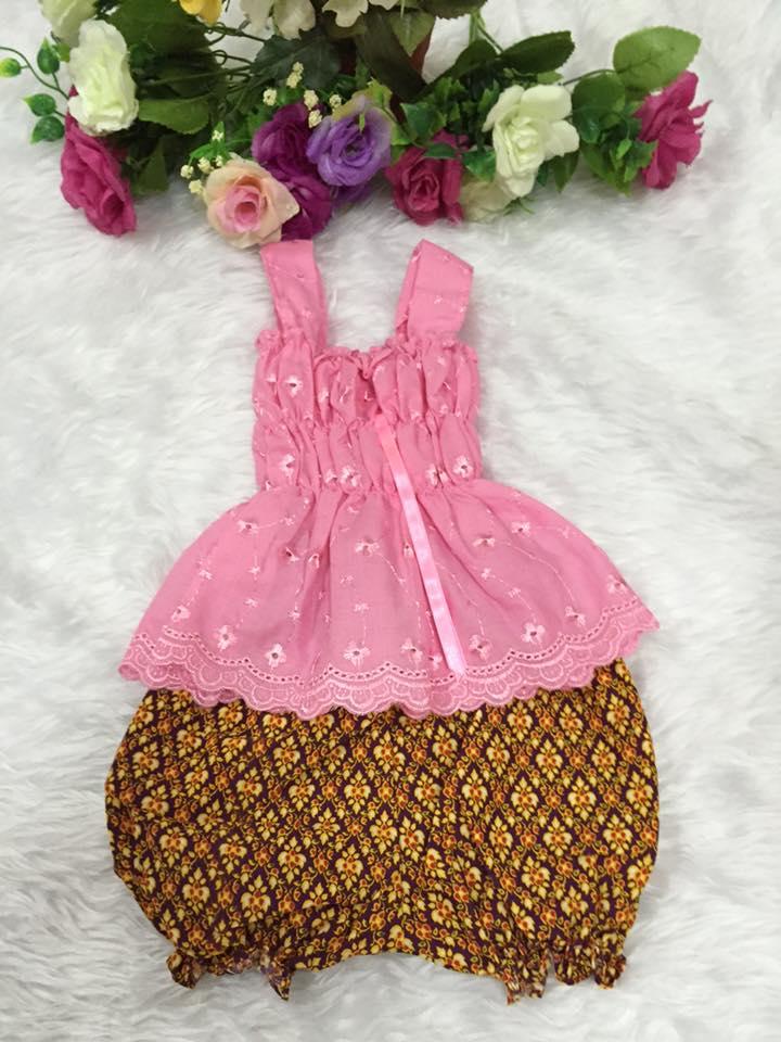 ชุดไทยเด็กหญิง-สีชมพู