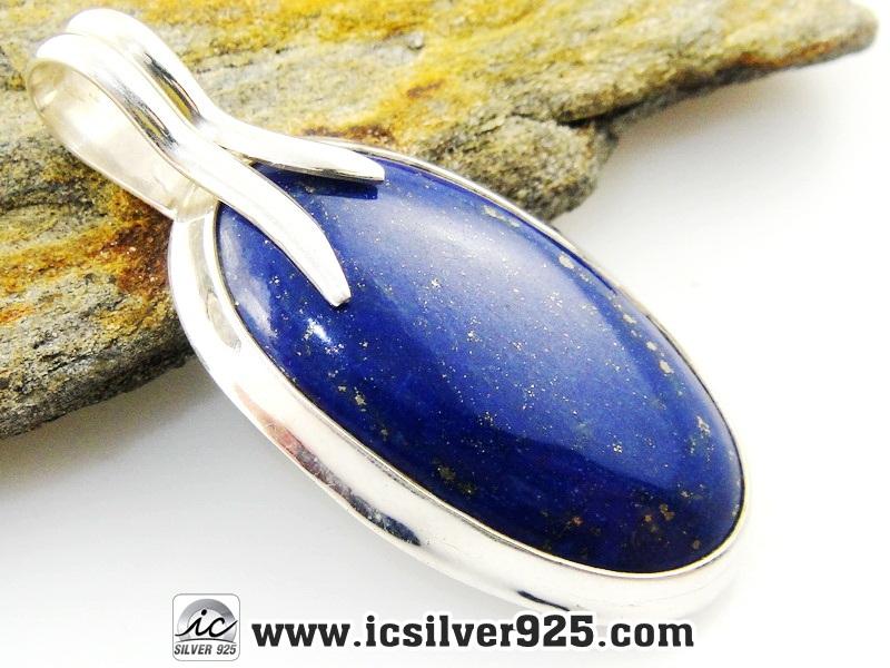 ▽ลาพิส ลาซูลี่ (Lapis Lazuli) จี้เงินแท้ 925 (11.4g)