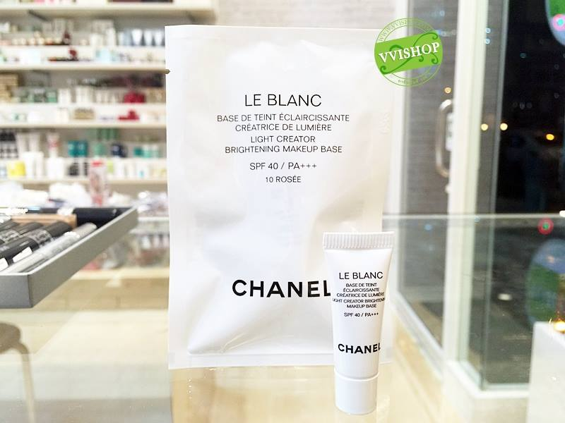 CHANEL Le Blanc Light Revealing Whitening Makeup Base SPF 40 / PA +++ 2.5 ml. # 10 ROSEE (รุ่นใหม่กิ๊กเลยจ้า) *พร้อมส่ง*