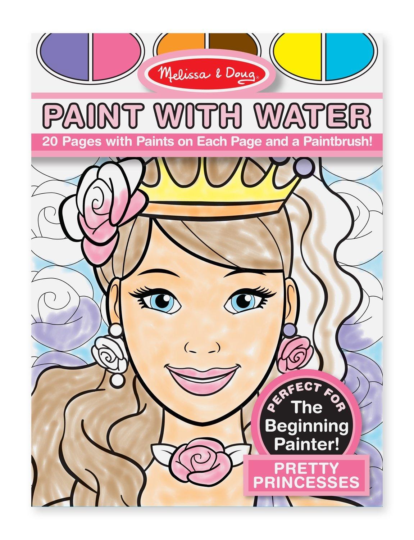 สมุดระบายสีน้ำ Melissa & Doug Paint With Water - Pretty Princesses