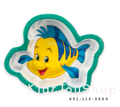 ชามเด็กลาย Flounder (little mermaid)[Disney USA]
