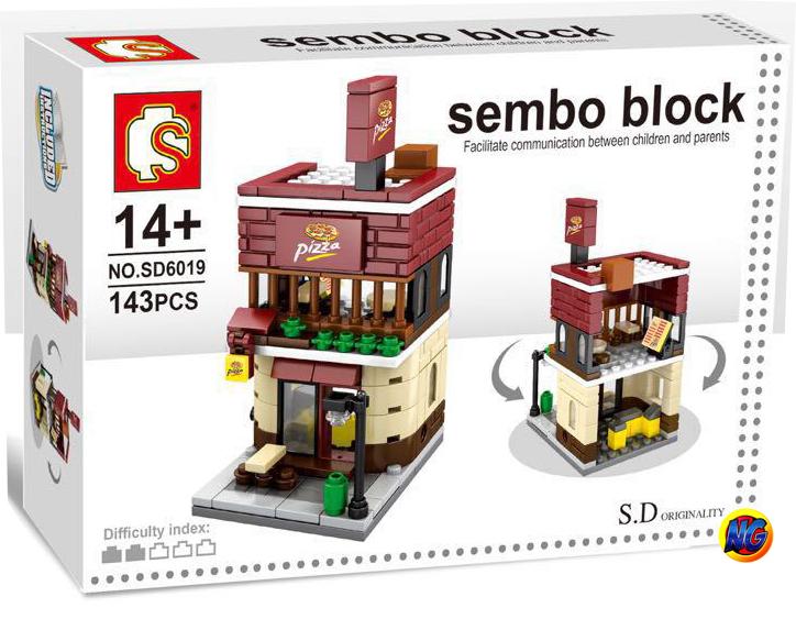 Sembo Block SD6019 ร้าน Pizza